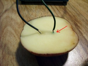 how to create electricity using a potato